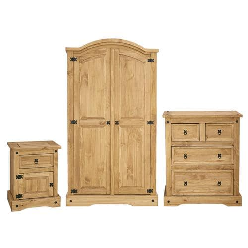 3 Piece Corona Pine Bedroom Set