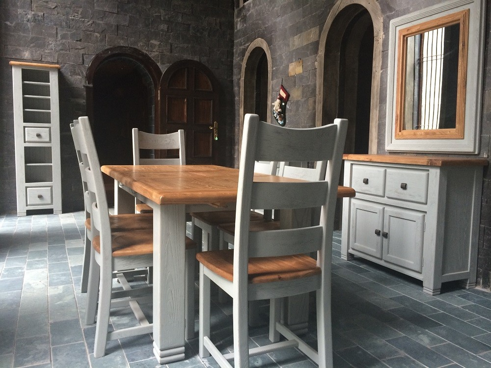 queensland 39 1800mm french grey extending diningset