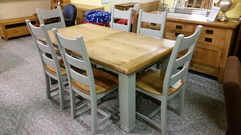 Queensland mm french grey extending diningset cp