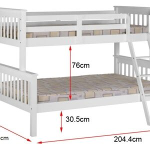 Barcelona Single Bunk Bed Graphite Grey From Verona Designs Cp
