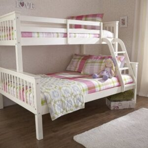 Salix Wooden Triple Bunk Bed in White